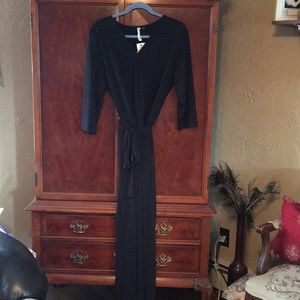 Any occasion solid black jumpsuit elastic waist